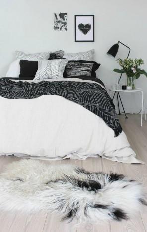 The Scandinavian style bedroom design