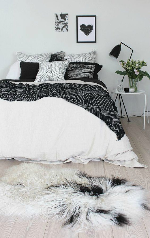 The Scandinavian style bedroom design