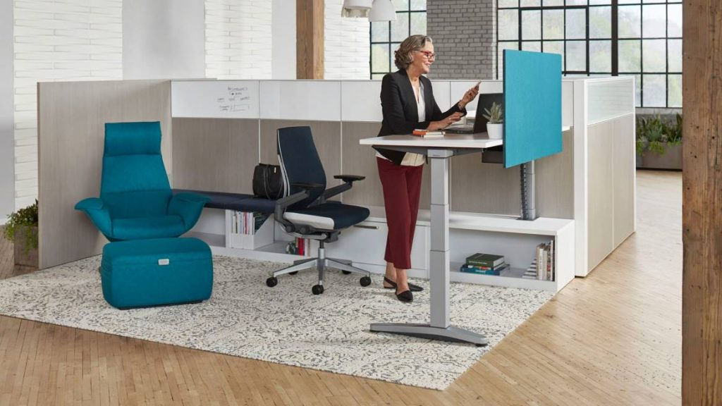ology adjustable computer desk with active touch