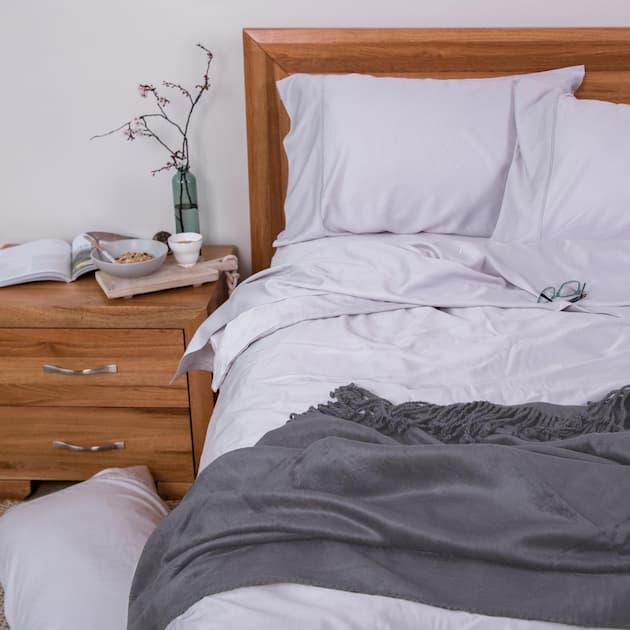 bamboo throw dark grey for bedroom