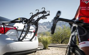 Close-up of bicycle carrier