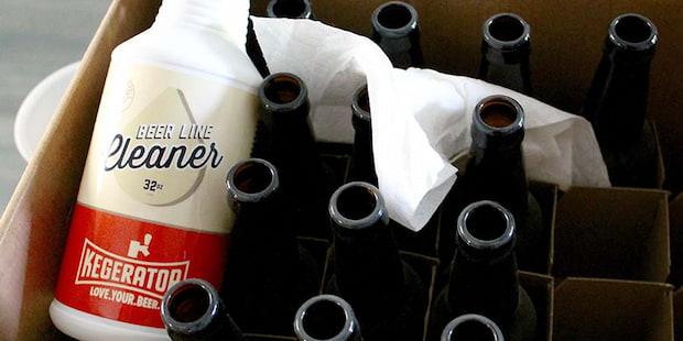 bleach cleaner for beer bottles