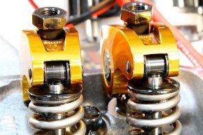 close-up of valve spring