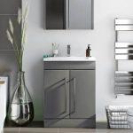 grey and white bathroom design