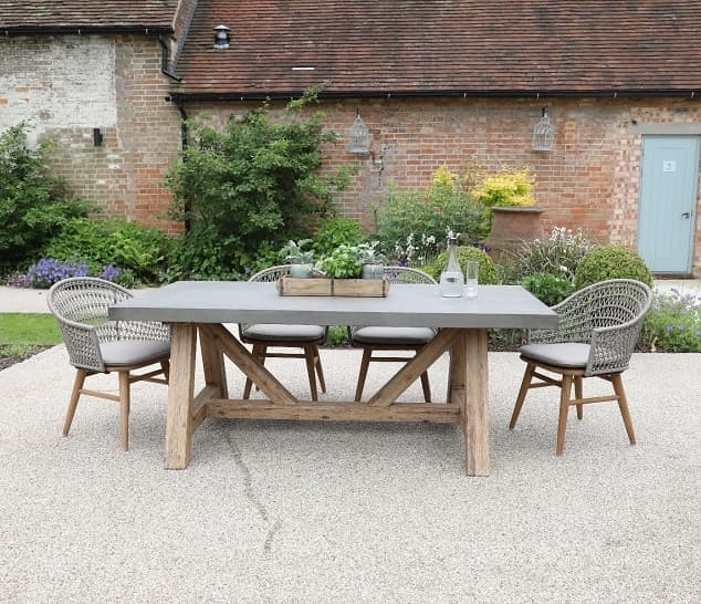 Polished Concrete Outdoor Dining Table