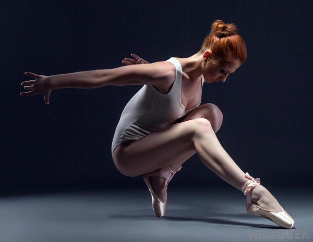 Ballet dancer in leotard