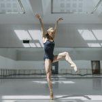 Ballet dancer in plain leotard