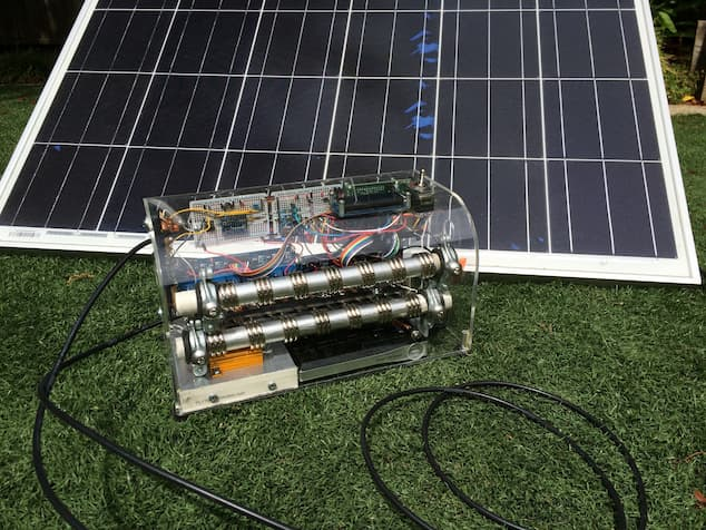 data collector from solar panels