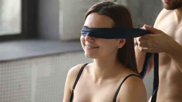 blindfolds couple