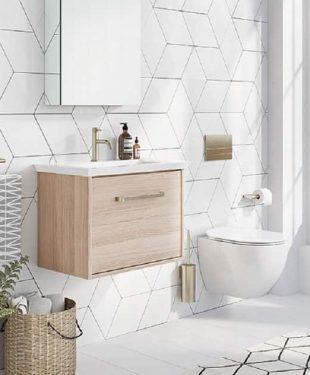 Wall Hung Sink in small bath